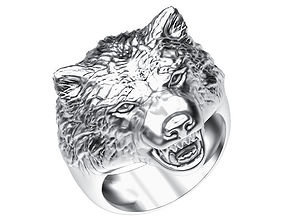 Ring 008 wolf 3D printable model
