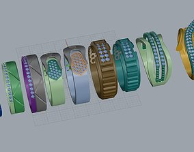 ring jewelry wedding ring 3D printable model 1
