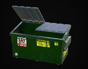 3D 2 yard garbage container