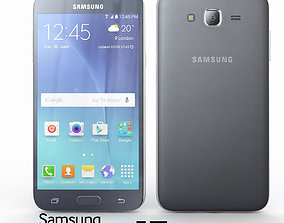 3D galaxy Samsung Galaxy J7 Black