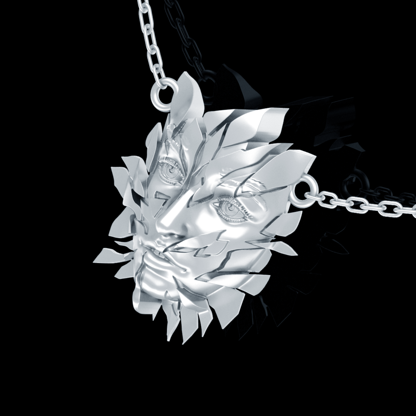 Broken Face Pendant jewelry Gold 3D print model