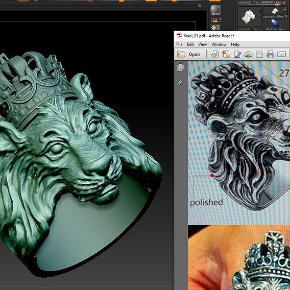Lion/Crown Ring