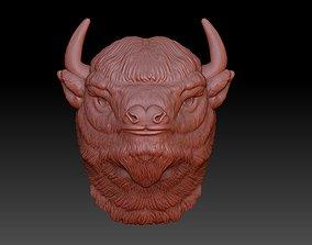 the head of a Buffalo 3D print model