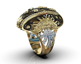 3d ring with stones 3D print model