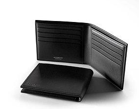 3D model Bicolor Billfold Wallet leather