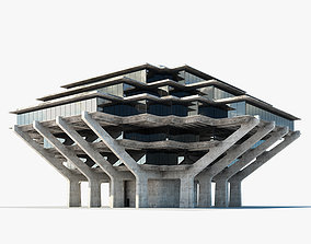 Geisel Library 3D model