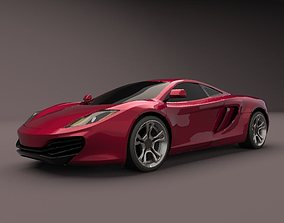 vehicle 3D model McLaren MP4-12C 2011 supercar