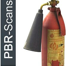 3D PBR Fire extinguisher2 middle poly