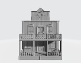 3D print model Wild west office post