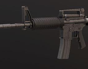 3D asset game-ready m4a1 assault rifle