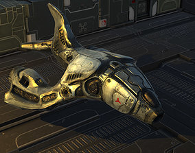 3D model Heavy Sci-Fi Bomber Painted Textured