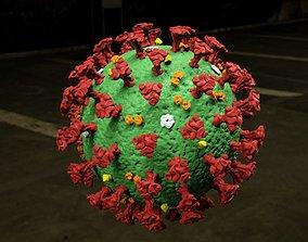 covid Coronavirus 3D model