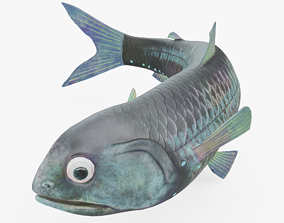 3D asset Lanternfish Rigged