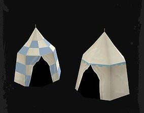 Cartoon Tents 3D model