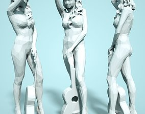 Girl Low poly Sculpture body 3D print model