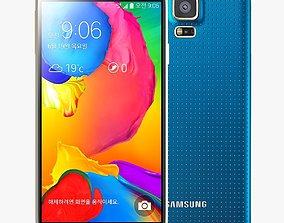 Samsung Galaxy S5 LT E-A Electric Blue 3D model
