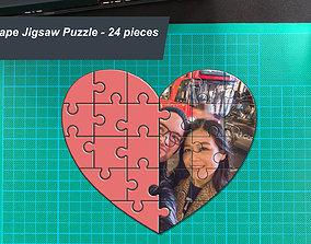 Heart Shape Photo Jigsaw Puzzle gift 3D printable model