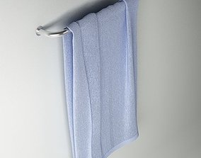 Towel 06 blue 3D model