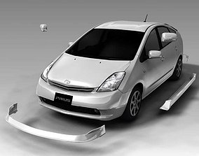 3D Toyota prius car model full option and material for all