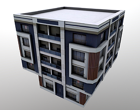 Architectural Building 3D model game-ready