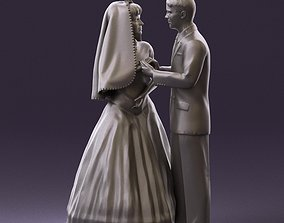 000006 wedding pieces looking on each other 3D Print