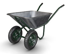Wheelbarrow Green 3D