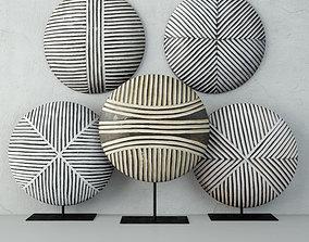 3D Zulu Round Shields 4