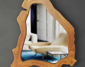 3D Teak root mirror