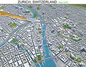 Zurich Switzerland 30km 3D asset