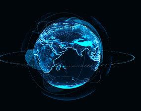 3D earth Animated Hologram Planet Earth v4
