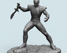 scuptures 3D printable model Power Ranger-White Ranger