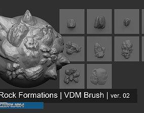 3D 10 Arid Rock Formations 02 - Zbrush VDM Brush