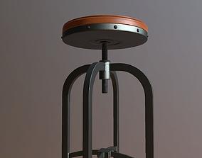 3D printable model Adjustable Height industrial stool