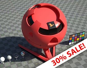 3D model Red Plastic - VRay shader