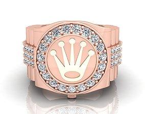 Luxury Rolex Diamond Ring 3d Model print