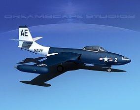 McDonnell F2H-2 Banshee V05 3D model