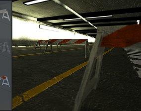 3D asset Road Barricade