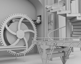 3D model Interior Factory Scene