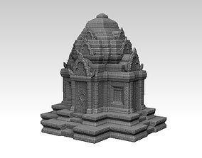 3D print model Ruin Ancient Khmer Temple 01