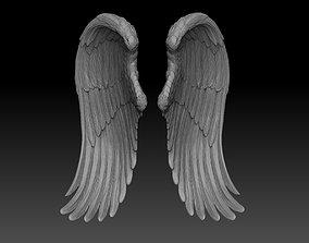 art angel wings 3d model