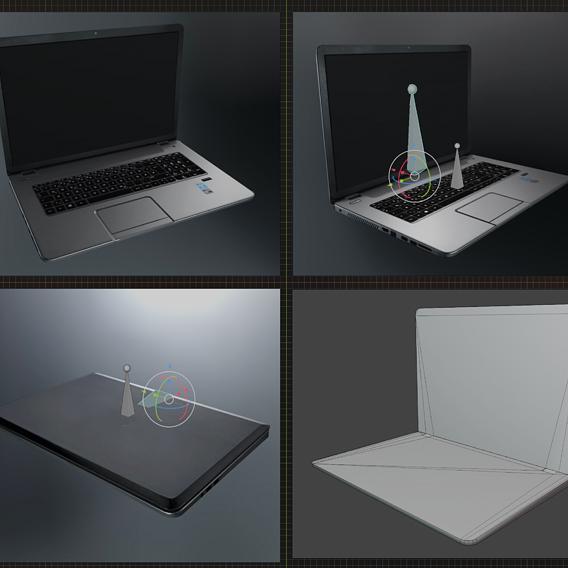 Lowpoly Notebook Blender-29 Version