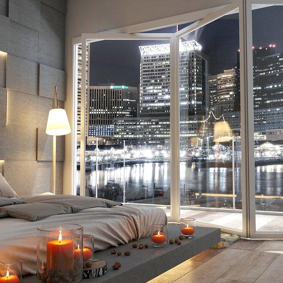 Modern Bayfront Room