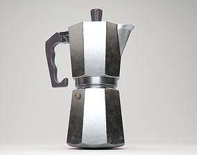 Stove-top Espresso Maker 3D