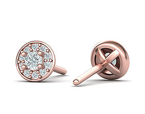 Stud Diamond earrings 3d model
