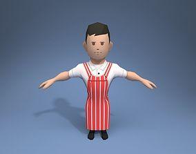 Butcher 3D asset