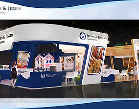 Booth Jebsen design size 15 x 8 m 120 sqm 3D model