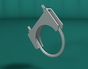 Tube clamp and anchor 3D asset