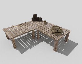 low poly beach mole 2 3D asset