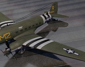 3D model Douglas C-53 Skytrooper