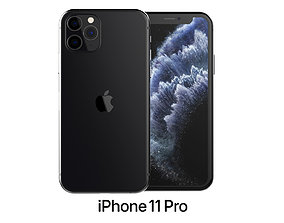 2020 Apple iPhone 11 Pro Space Gray 3D model